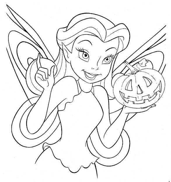 Tinkerbell  Free Disney Halloween Coloring Pages  Lovebugs And Postcards