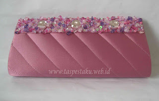 Dusty Pink Tas Pesta Clutch Bag