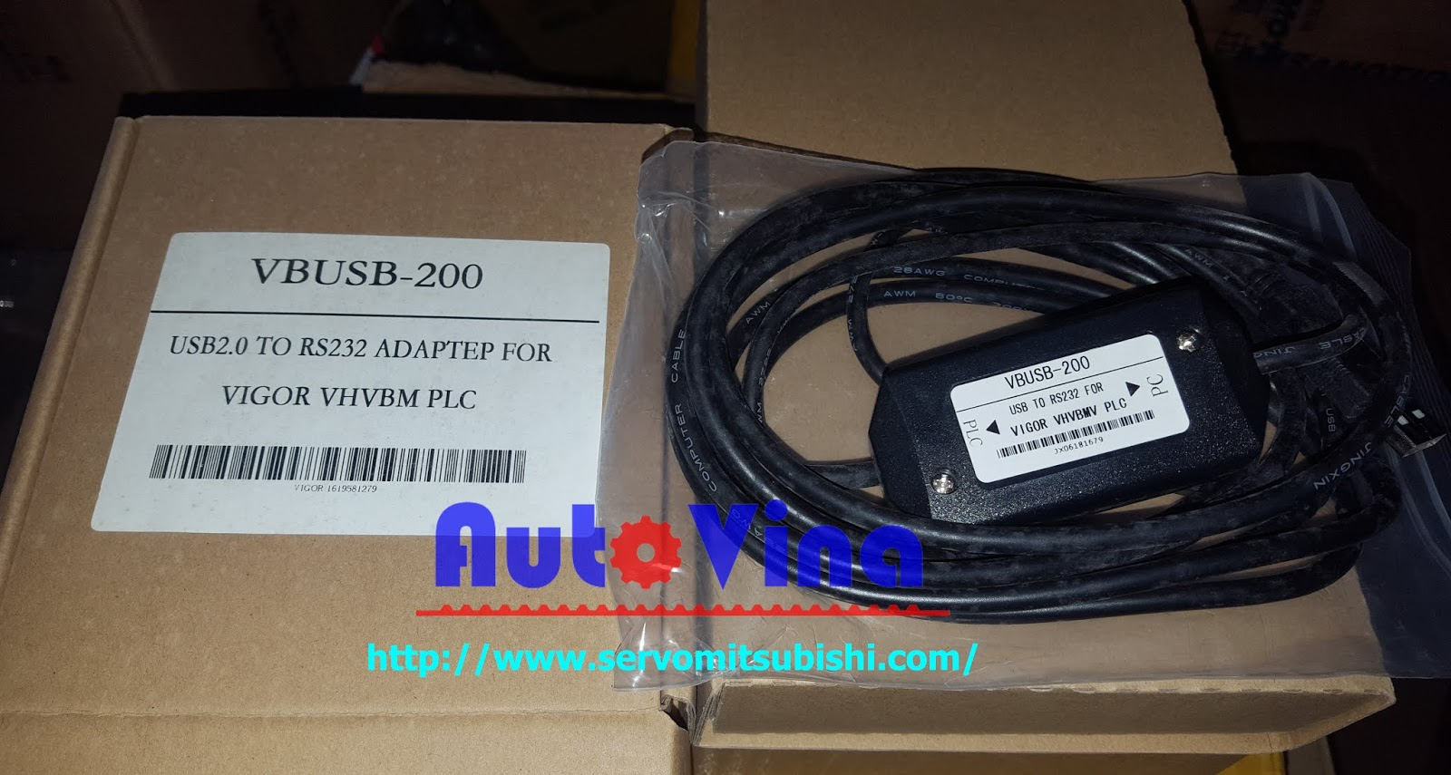 Bán các loại cable PLC Vigor, VBUSB-200 cable PLC Vigor VH VB M series