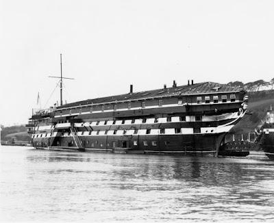 HMS Defiance at wearde quay
