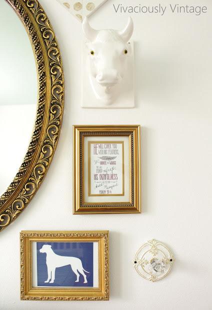 Ansley Design Gold Frame Wall