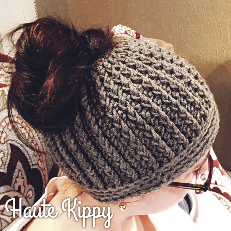 Haute Kippy Gina Messy Bun Hat