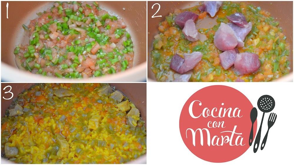 Paella de arroz  con carme en olla gm, comprar olla gm, fácil, rápida, sencilla, casera, Cocina con Marta