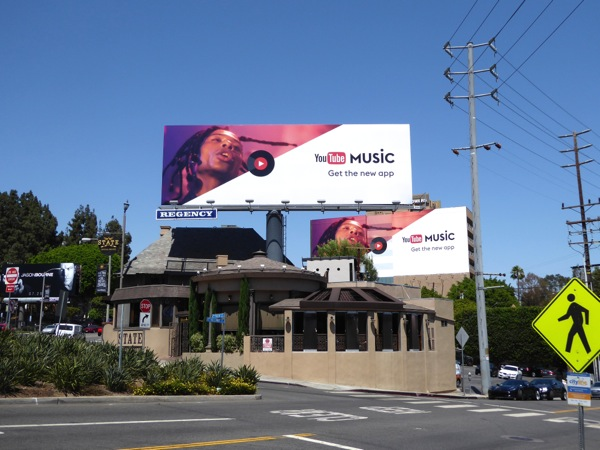 YouTube Music app billboards Sunset Strip