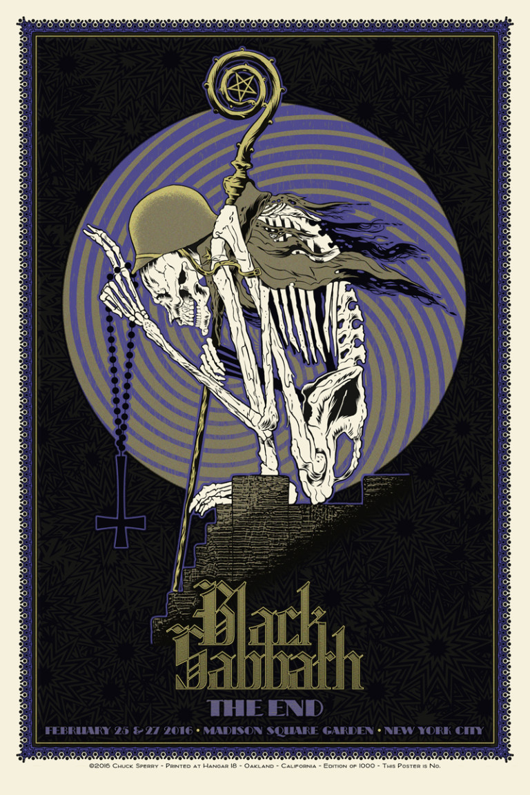 Inside The Rock Poster Frame Blog Black Sabbath Chuck