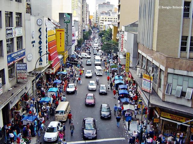 Panorâmica da Rua 25 de Março - Centro - São Paulo