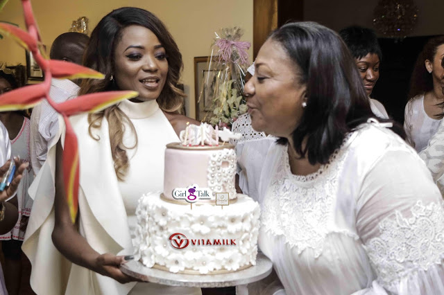 """Photos: The """"Girl Talk"""" Crew , Efya, Yvonne Nelson & Others Surprised First Lady Of The Republic of Ghana On Her Birthday"""
