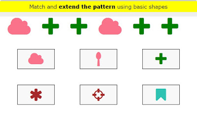 http://www.ezschool.com/play/math/match-and-extend-the-pattern-using-basic-shapes/1009