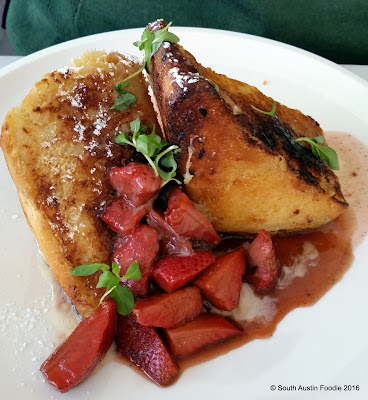 VOX Table brioche french toast w balsamic strawberries