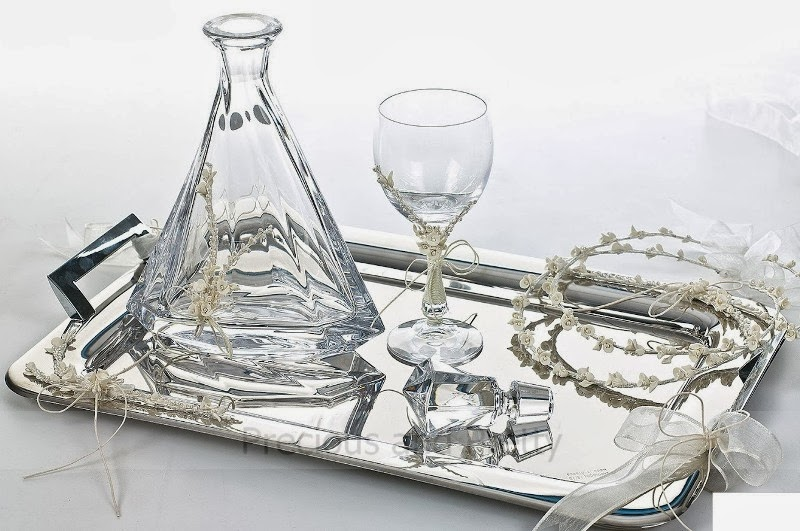 Greek wine glasses and decanter set