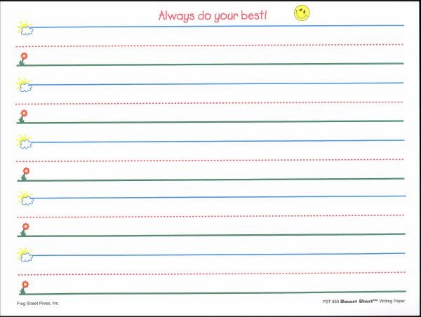 kindergarten lined paper template free download