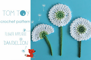 Dandelion applique crochet pattern