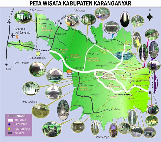 Gambar Peta Wisata Kabupaten Karanganyar