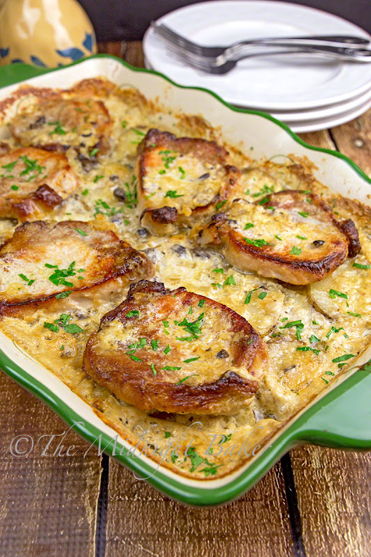Pork Chops & Scalloped Potatoes Casserole #Recipe