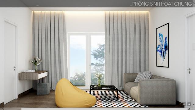 Phòng sinh hoạt chung biệt thự villas The Venica Khang Điền Quận 9