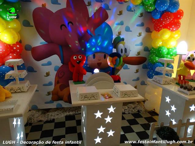 Mesa temática do Pocoyo - Festa infantil - Decoração provençal