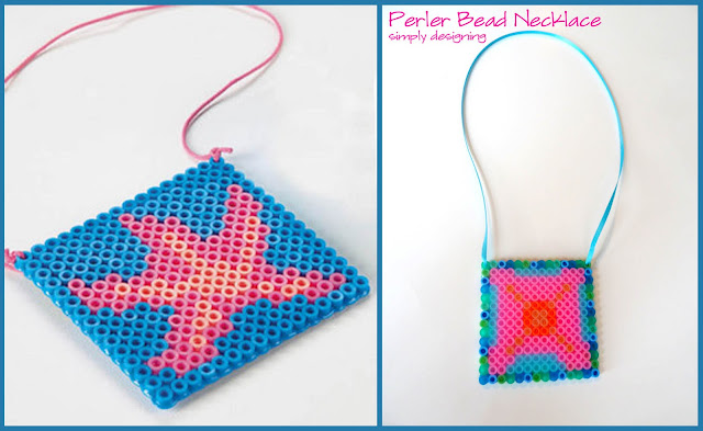 Starfish Necklace with Perler Beads (aka Hot Beads) #summerofjoann #spon @JoAnn