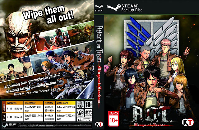 Capa Attack On Titan Wings Of Freedom PC Steam