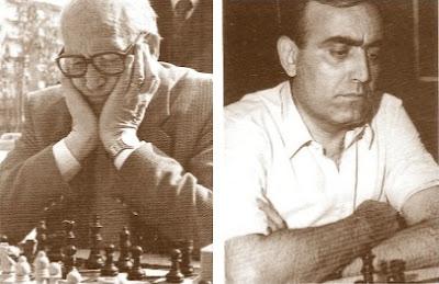 Los ajedrecistas Àngel Ribera y Joaquim Travesset