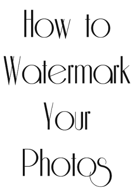 How to watermark your photos