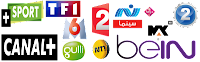 bein sports arab france TF1 m6 mbc m3u