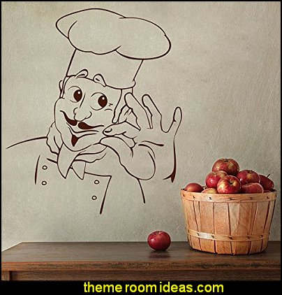 Cartoon Chef Wall Decor Art Stickers Vinyl Decals Home Decor for Living Room & Kids bedroom