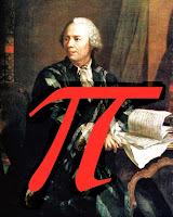 Leonhard Euler justo después de decidirse por la letra griega para denominar a la constante pi.