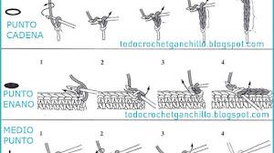 Cómo tejer punto cadena, punto enano, medio punto y varetas - paso a paso y video