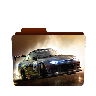 Preview of car, racing game, game icon, racing folder icon