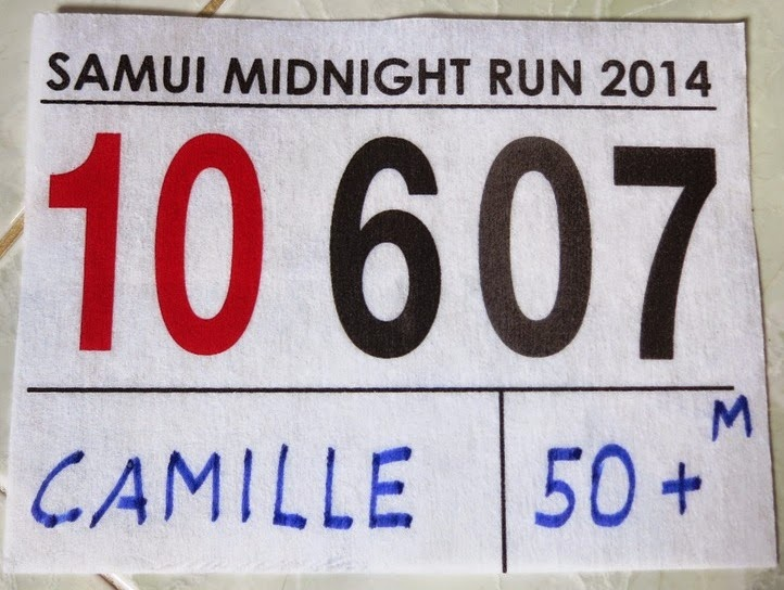 Samui Midnight Run Bib 2014