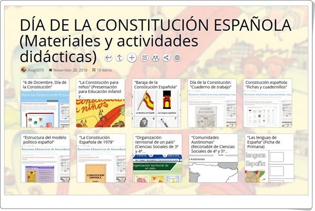 """""""10 Materiales y actividades didácticas para celebrar el DÍA DE LA CONSTITUCIÓN ESPAÑOLA"""" (6 de diciembre)"""
