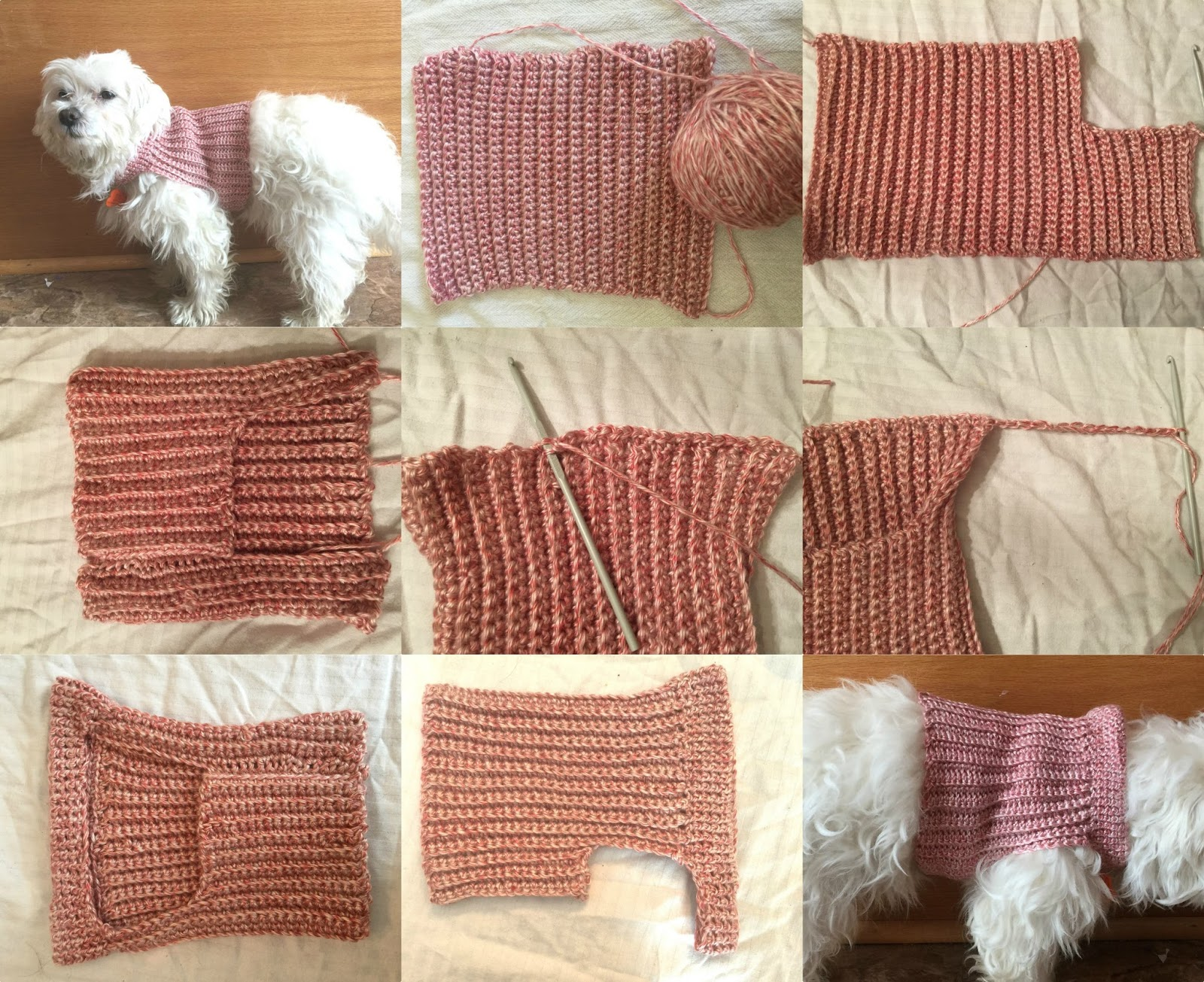 Messy Beautiful Fun Diy Crochet Dog Sweater