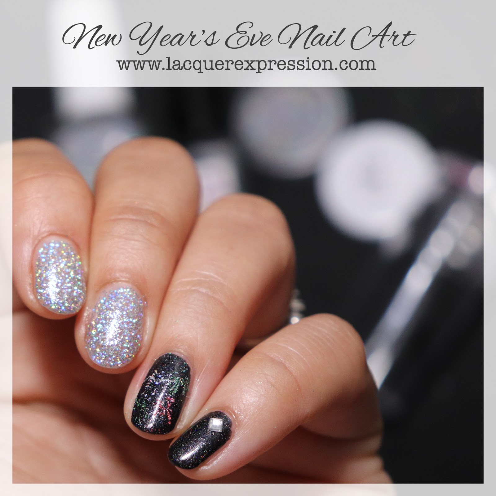 Step-by-Step Nail Art Thursday - New Year\'s Eve Nails ...
