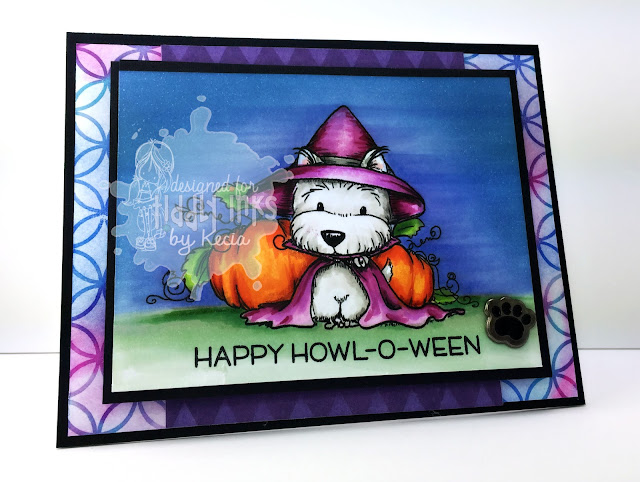 Tiddly Inks, Kecia Waters, Copic markers, Halloween, puppy, Howl-o-ween