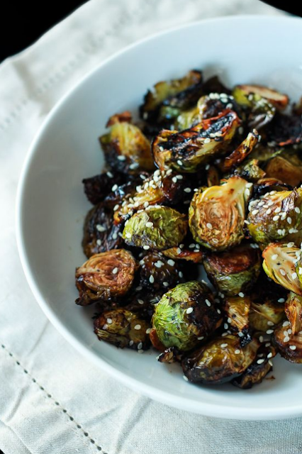 Honey Soy Glazed Brussels Sprouts
