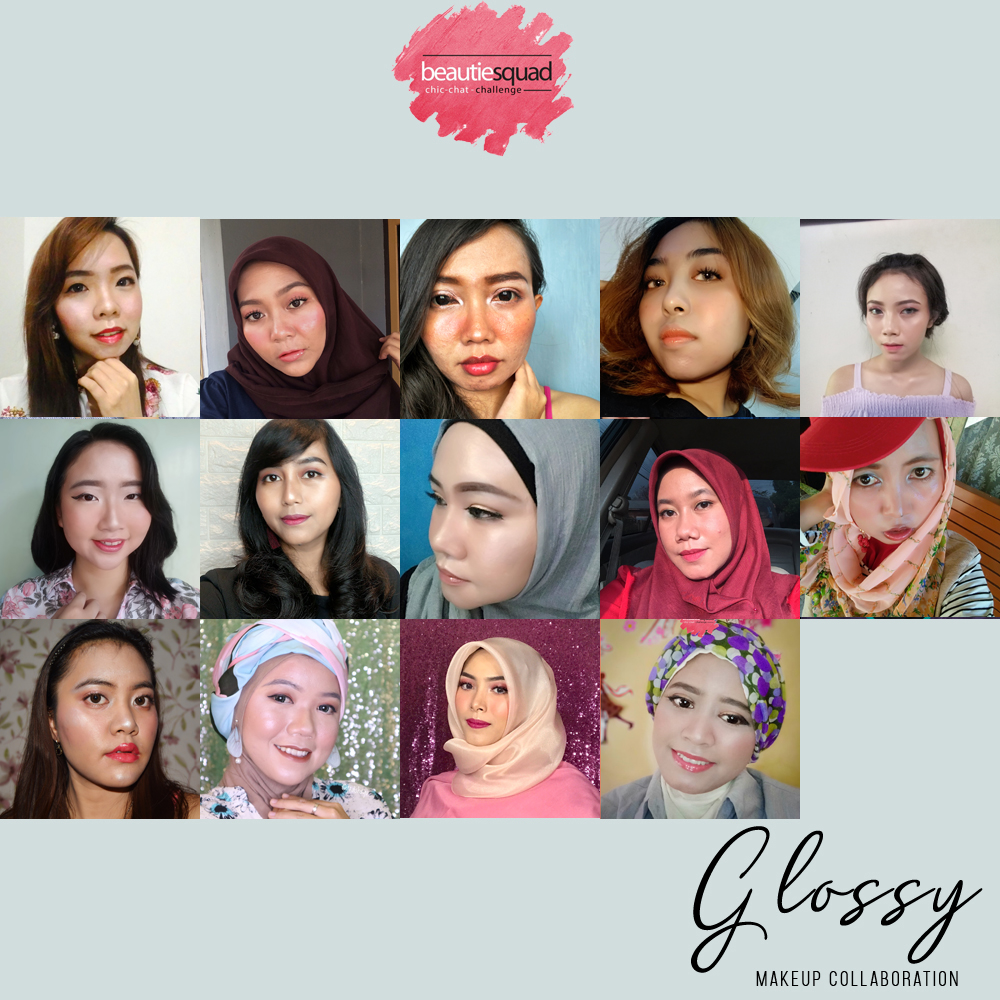 GLOSSY MAKEUP COLLABORATION WITH BEAUTIESQUAD