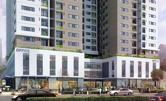 Phối cảnh tầng thương mại, văn phòng chung cư HUD3 Nguyễn Đức Cảnh
