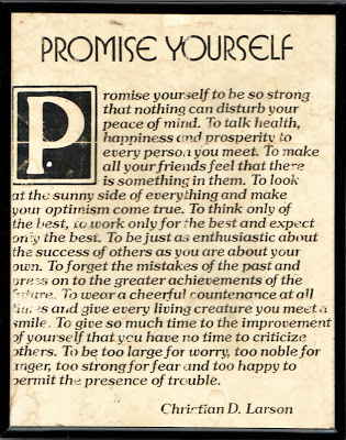 Promise Yourself, First