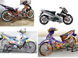 hasil modifikasi sepedamotor Supra Fit