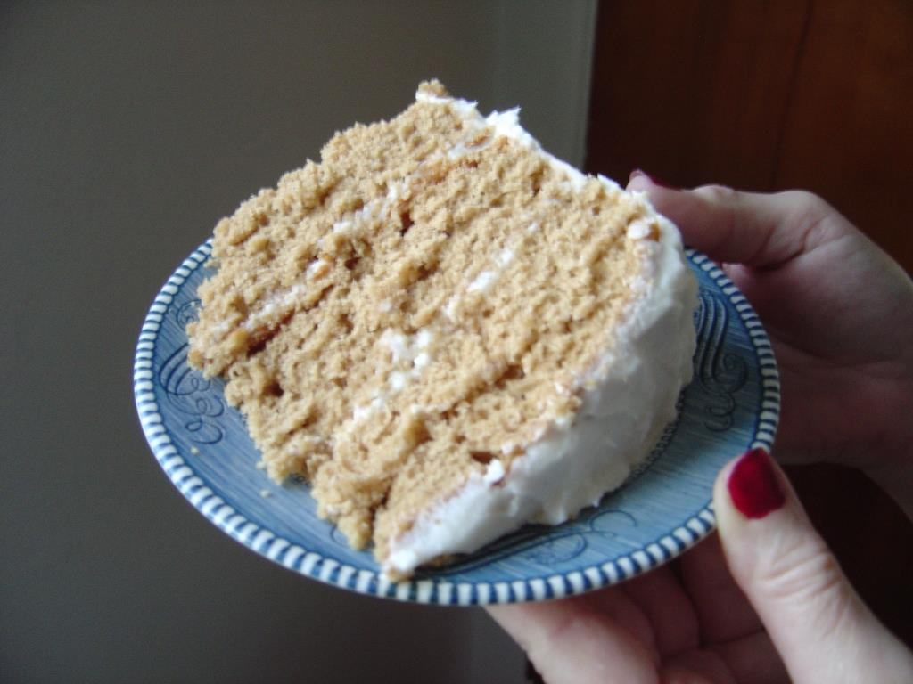 piece of my best spice layer cake