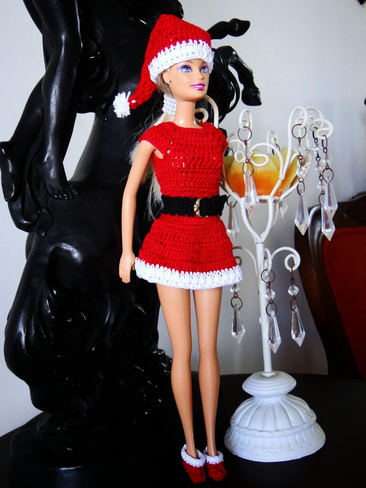 Roupa de Crochê Para o Natal da Barbie  Criada Por Pecunia MillioM