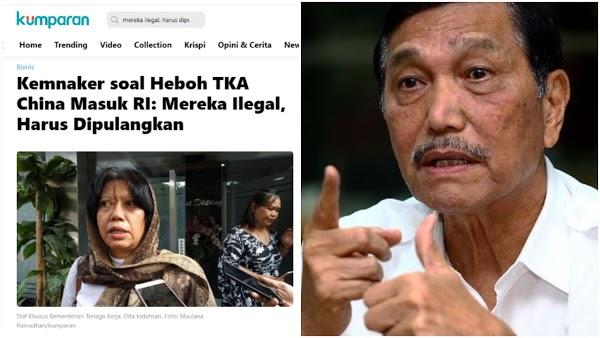 "Luhut Bela 49 TKA China di Kendari: ""Jangan Dibesar-besarkan, Mereka Tidak Melanggar"""