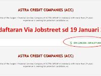 Astra Credit Companies Kantor - Cabang Padang Gaji sd 4,3 Juta