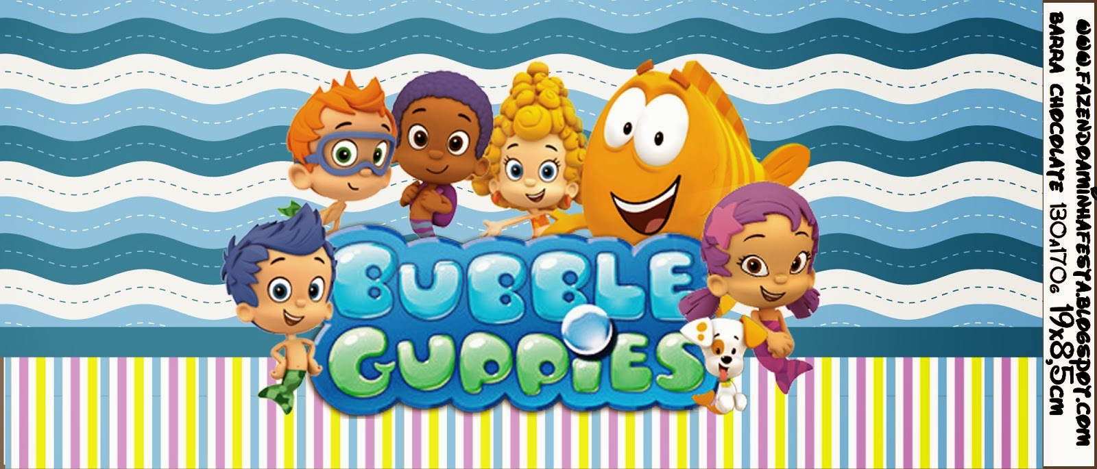 Bubble guppies free printable candy bar labels oh my fiesta in free printable chocolate wrapper maxwellsz