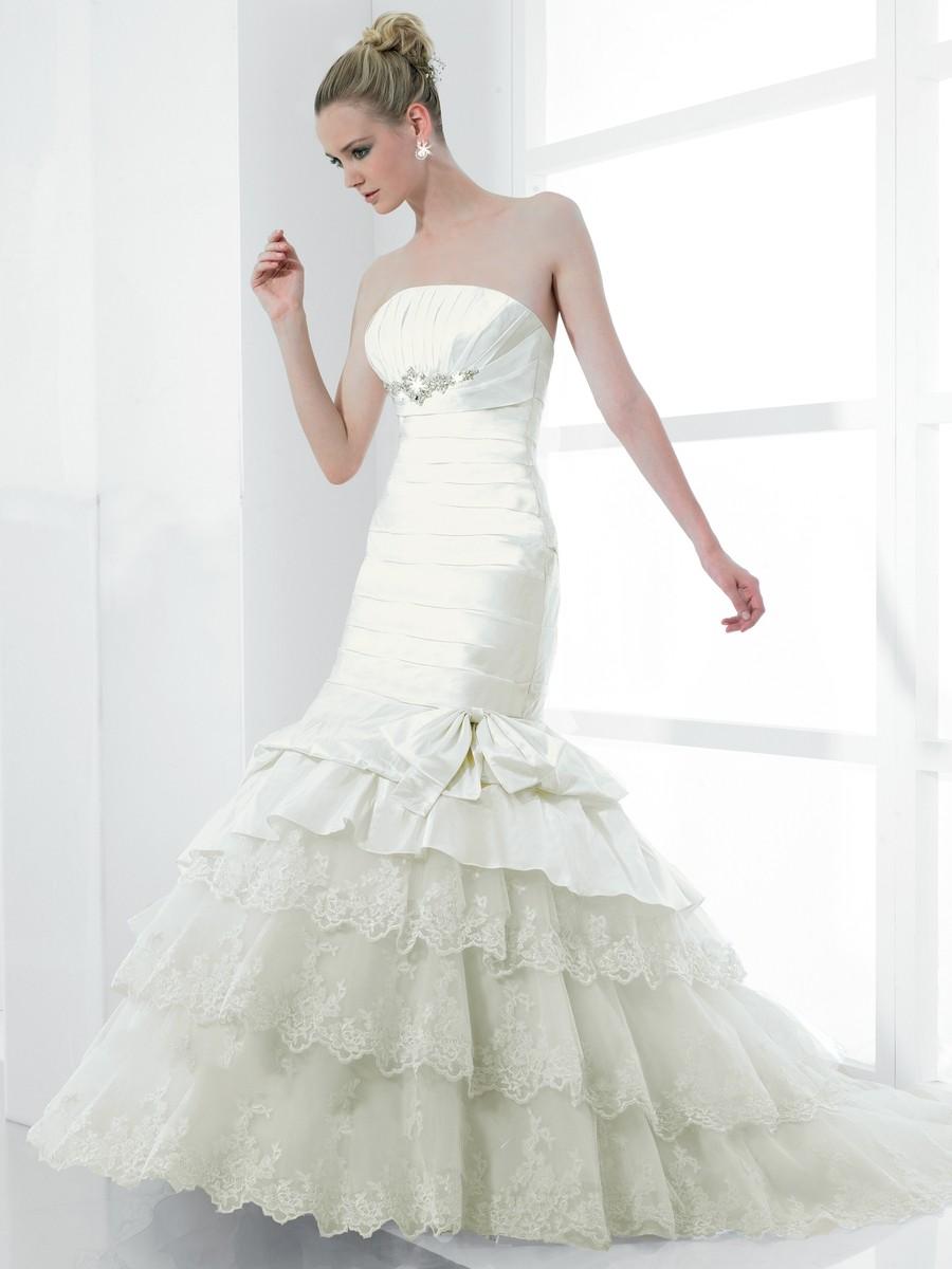 Brautkleid Meerjungfrau Figur