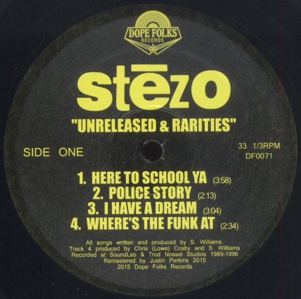 90's Hip-Hop: Stezo - Unreleased & Rarities (2016 / Recorded