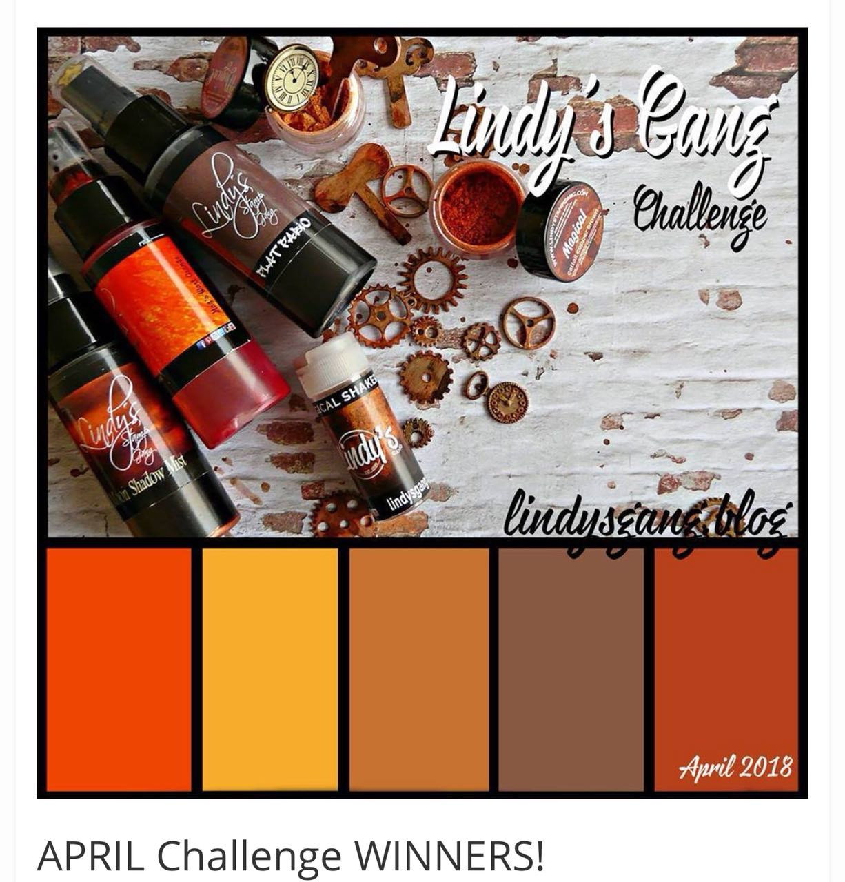 Lindysgang April Challenge Winner