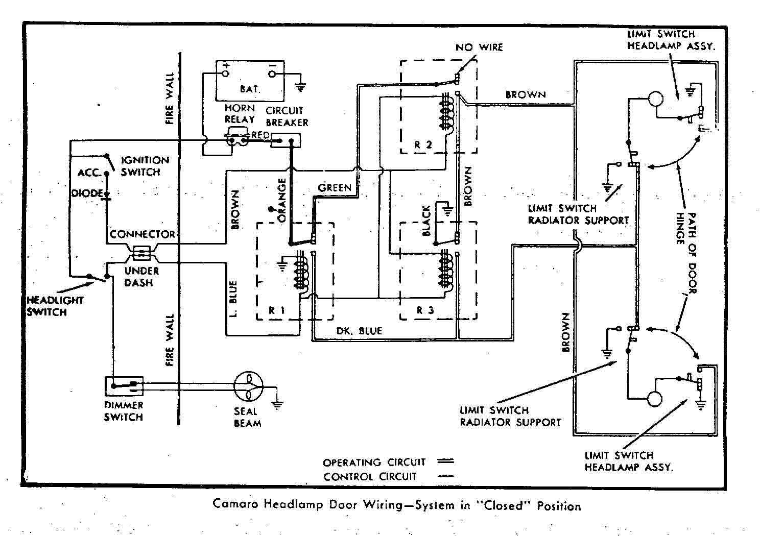 1968 camaro shifter wiring diagram