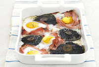 Μανιτάρια πορτομπέλο με μπέικον και αβγά στο ταψί - by https://syntages-faghtwn.blogspot.gr