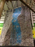 tall indoor climbing wall